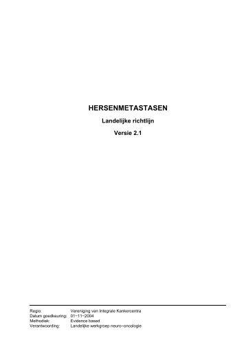 HERSENMETASTASEN - Kwaliteitskoepel