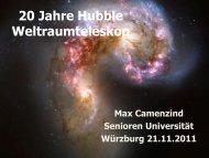 20 Jahre Astronomie mit dem Hubble-Weltraumteleskop