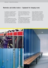 Wardrobes and clothes lockers – Equipment for changing rooms