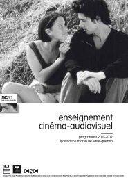 Programme d'enseignement cinéma-audiovisuel 2011-2012