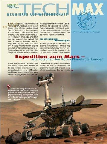 Expedition zum Mars - wie Forscher den Roten Planeten - Scinexx