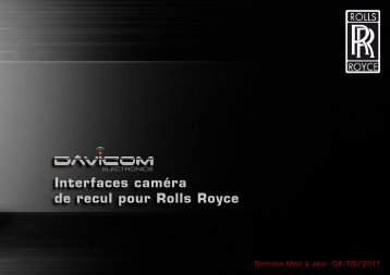 Interfaces caméra de recul pour Rolls Royce - Davicom Electronics