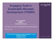 Engaging Youth in Sustainable Mountain Development (Y4SMD) - Asia ...
