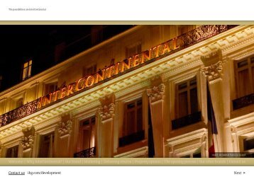 The possibilities are InterContinental - IHG Development