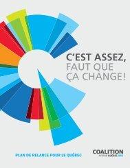 Plateforme 2012.indd - Coalition Avenir Québec