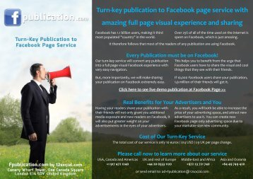 Turn-key publication to Facebook page service with ... - Google Drive