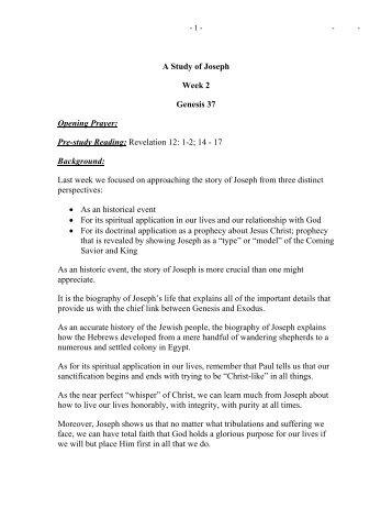 Genesis in one study