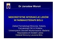 Niekorzystne interakcje leków w farmakoterapii bólu [1,57 MB].