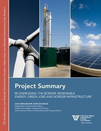 RE-Energizing the Border - Woodrow Wilson International Center for ...