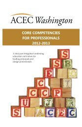 core competencies for professionals 2012-2013 - ACEC of ...