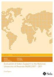Evaluation of Sida's Support to the National University of Rwanda ...