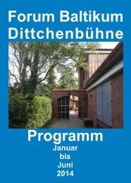 Programm Forum Baltikum Dittchenbühne
