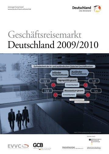 Geschäftsreisemarkt Deutschland 2009/2010 - germany.travel