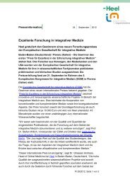 Exzellente Forschung in integrativer Medizin - Heel