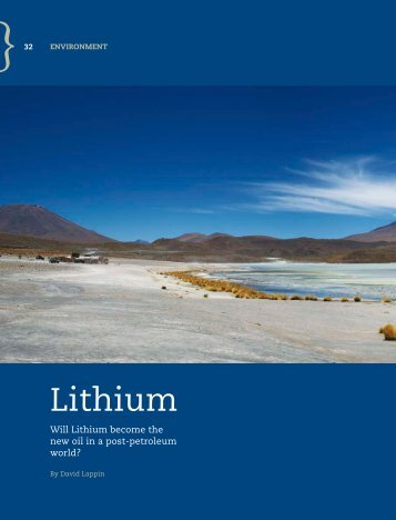 Lithium - One World Publications