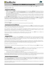 Allgemeine Bedingungen zur Visa PRELOAD Karte