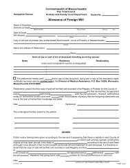 Allowance of Foreign Will - Hampshire County Probate and Family ...
