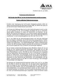 Frankfurt, den 20. Juni 2006 P r e s s e i n f o r m a t i o n VKA ... - KAV