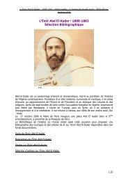 L'Emir Abd El-Kader - Institut du Monde Arabe