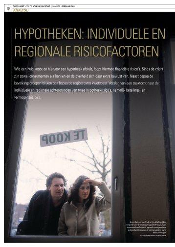 hypotheken: individuele en regionAle riSicofActoren