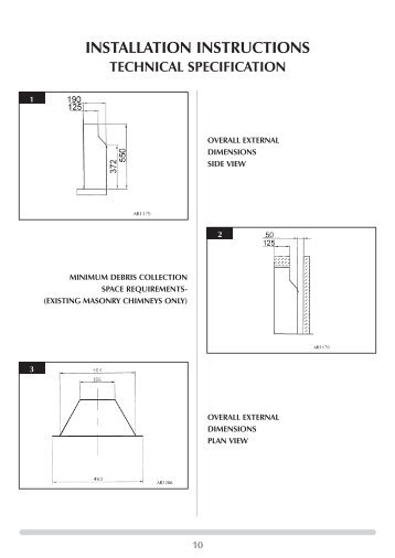installation instructions technical specification - Around Town Flats