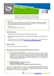 Télécharger la fiche en PDF - Conseil Général de la Côte-d'Or