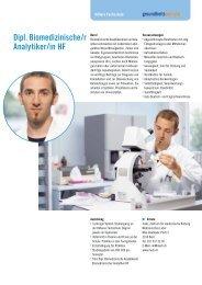 Dipl. Biomedizinische/r Analytiker/in HF - Gesundheitsberufe Bern
