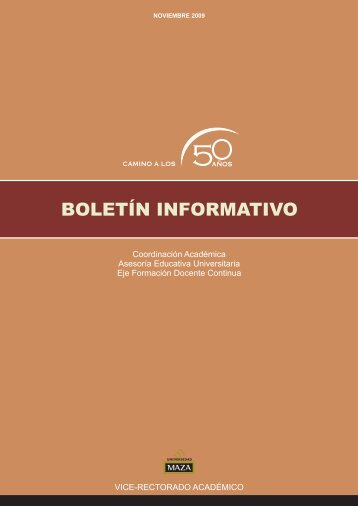 Boletín Docente Año 1 - Universidad Juan Agustín Maza