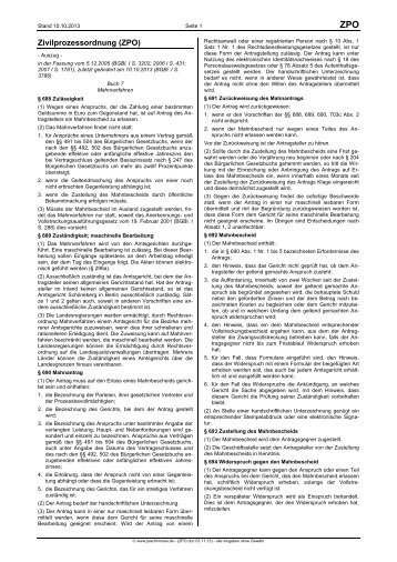 Das Gerichtliche Mahnverfahren Bawibade