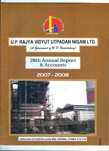 Balance Sheet 2007-08 - uprvunl