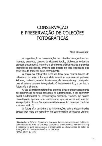 conservação e preservação de coleções ... - Revista Histórica
