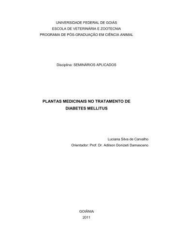 plantas medicinais no tratamento de diabetes mellitus - UFG