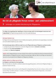 Leistungen zur sozialen Absicherung der Pflegeperson. - AWO ...