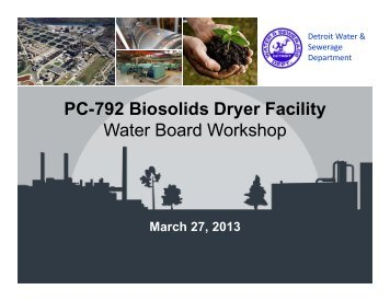 PC-792 Biosolids Dryer Facility - Detroit Water and Sewerage ...