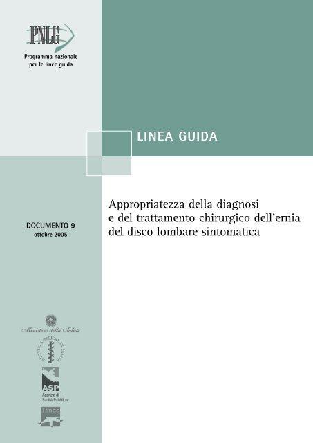 Ernia del disco - Sistema Nazionale Linee Guida