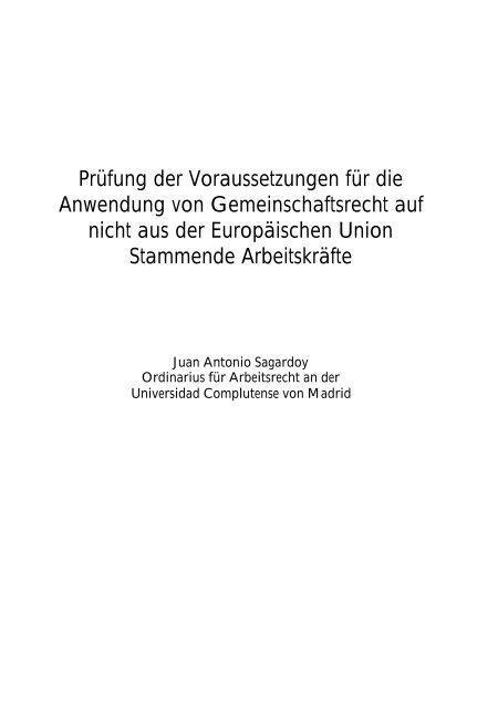 Prüfung der Voraussetzungen für die Anwendung von ... - Juridicum