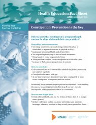 RNAO Fact Sheet: Constipation - Long-Term Care Best Practices ...
