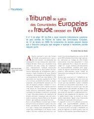 O Tribunalde Justiça das Comunidades Europeias e a ...