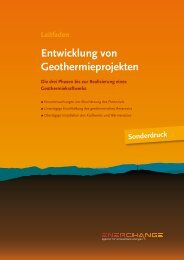 """Leitfaden """"Entwicklung von Geothermieprojekten - Enerchange"""