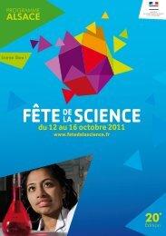 fête la de science - CNRS Alsace