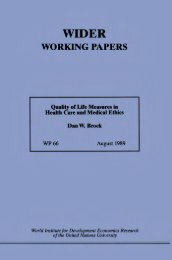 quality of life measures in health care and medical ethics - unu-wider