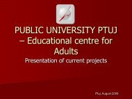 Predstavitev projektov Ljudske univerze Ptuj v angleščini