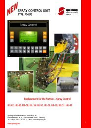 SPRAY CONTROL UNIT - Sprimag