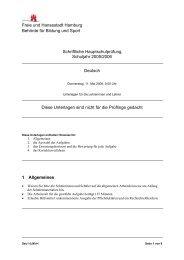 Freie und Hansestadt Hamburg Behörde für Bildung und Sport ...