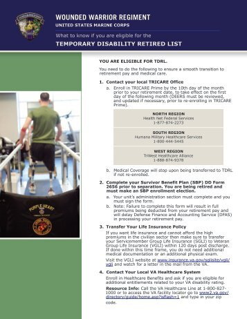 temporary disability retired list - United States Marine Corps ...