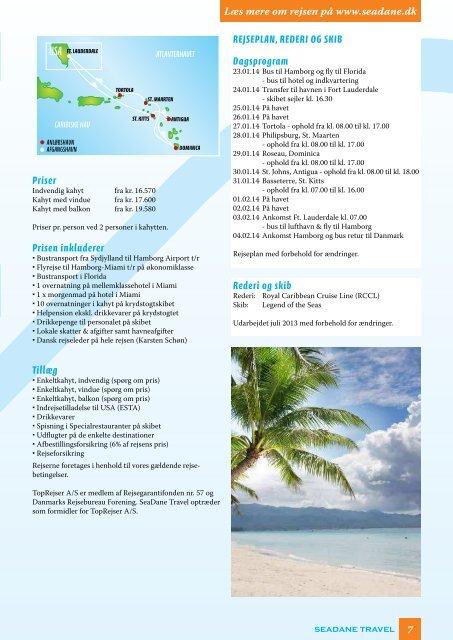 · CARIBIEN · BRASILIEN · PANAMA-KANALEN ... - Seadane Travel