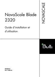 NovaScale Blade 2320 Guide d'installation et d'utilisation