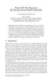 Timed I/O Test Sequences for Discrete Event Model Verification