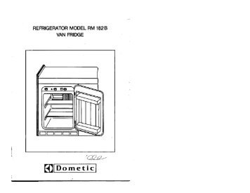 Dometic instruction manual
