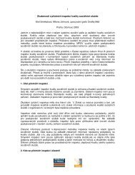 Zkušenosti z pilotních inspekcí kvality sociálních služeb Etel ...